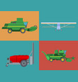 agriculture harvest machine industrial vector image
