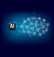 ai artificial intelligence technology cpu chipset vector image vector image