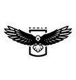 american eagle flying bird logo emblem vector image vector image