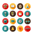 Back to school icons vector image