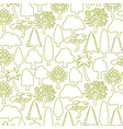 background pattern with trees thin line icons vector image vector image
