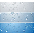 Banners with water drops vector image vector image
