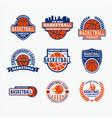 basketball logo 2 vector image vector image