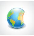 bitten globe environment concept vector image vector image