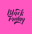 black friday hand lettering isolated on pink vector image vector image