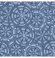 Blue flowers with strips vector image vector image