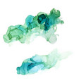bluish shades ink background wet liquid set vector image vector image