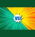 bright burst comic versus concept vector image vector image