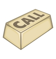Call button icon isometric style vector image vector image