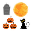 character for halloween day isolated on white vector image