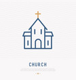 church thin line icon vector image
