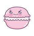 cute food macaroon sweet dessert kawaii cartoon vector image vector image