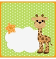 Cute teplate for postcard with giraffe vector image