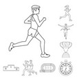design of exercise and sprinter logo vector image vector image