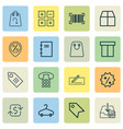 e-commerce icons set collection of money transfer vector image vector image