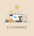 e-commerce strategy digital technologies charts vector image vector image