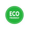 eco friendly simple green badge design element vector image vector image