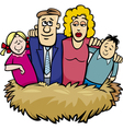 family nest cartoon vector image vector image