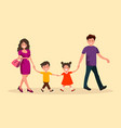 family outing vector image vector image