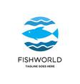 fish world logo vector image vector image