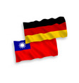 flags taiwan and germany on a white background vector image