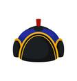 flat of national blue-black mongolian hat vector image vector image