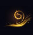gold twirl light effect golden swirl energy glow vector image vector image