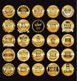 golden retro sale badges and labels collection 3 vector image vector image