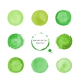 Green round stains and blots vector image vector image