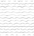 grunge ink waves seamless pattern doodle vector image vector image