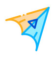 hang glider icon outline vector image vector image
