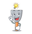 have an idea vintage putty knife on mascot vector image vector image