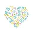 healthy lifestyle icon in heart vector image vector image