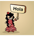 Hello from Spain people vector image vector image