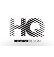 hq h q lines letter design with creative elegant vector image vector image