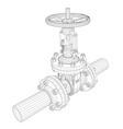 industrial valve rendering of 3d vector image vector image