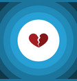 isolated broken heart flat icon divorce vector image