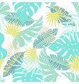 jungle seamless tropical exotic pattern vector image