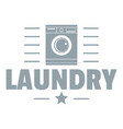 laundry logo simple gray style vector image