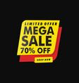 limited offer mega sale banner vector image vector image