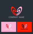 love couple beauty logo vector image