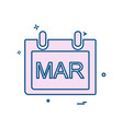 March calender icon design