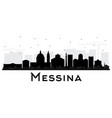messina sicily italy city skyline silhouette with vector image vector image
