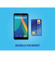 mobile payment with smartphone and credit card vector image