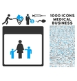 Mother Calendar Page Icon With 1000 Medical vector image vector image