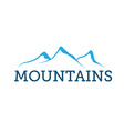 mountains abstract vector image vector image