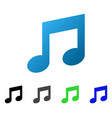 music notes flat gradient icon vector image vector image