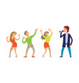 musician giving performance for people dancing vector image vector image
