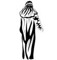 muslim woman vector image vector image