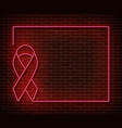 neon breast cancer awareness signs isolated vector image vector image